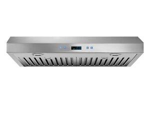 Hotte de cuisine 30'' en acier inoxydable 560 CFM