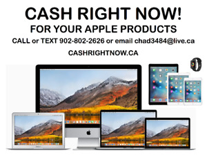 CASH RIGHT NOW for your Macbook Pro, Air, Imac, iPad, Watch