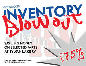 INVENTORY BLOW OUT PRICES!! on PARTS at Sylvan Lake RV
