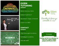Tutorat de maths, sciences - 26$/h (Secondaire, Cégep, Univ.)
