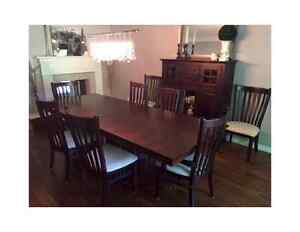 MOVING SALE!!  Modern Dining Room Set and Hutch