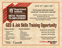 Metis GED and Job Training Opportunity