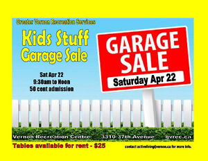 Greater Vernon Recreation Kids Stuff Garage Sale