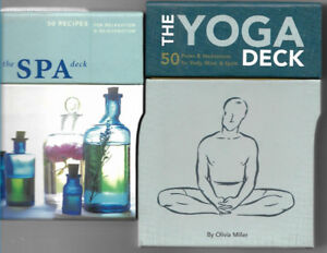 YOGA DECK OF 50 CARDS, 'SPA DECK 50 cards,both sets fine