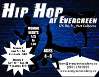 Hip Hop Classes at Evergreen Academy in Port Colborne