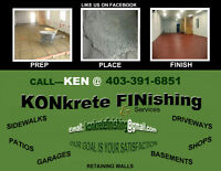 Experienced Concrete Finisher
