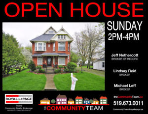 OPEN HOUSE! See this gorgeous century home Sun 2-4pm