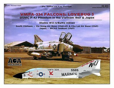 AOA decals 1/32 VMFA-334 FALCONS: LOVEBUG 5 USMC F-4J Phantom in Vietnam & Japan for sale  Newport