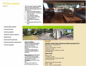 A few JULY dates still available - Rice Lake on Cow Island