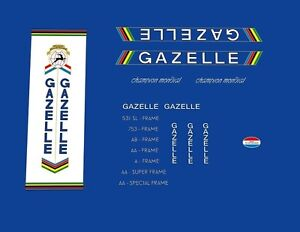 Gazelle-Champion-Mondial-Bicycle-Decals-Transfers-Stickers-34