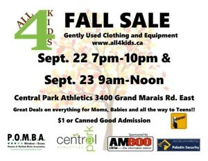 All 4 Kids Gently Used Clothing & Equipment Sale