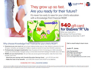 """$40 gift card for Babies """"R"""" Us"""