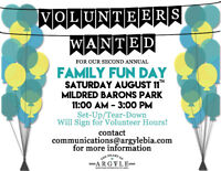 Volunteers Wanted for Family Fun Day