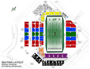 3 Tix - Section 26 - Aisle seats - 45 yd line - Oct 29