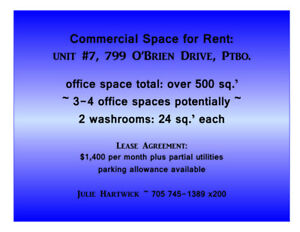 Commercial office space available in Peterborough