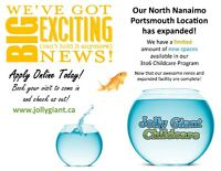 Great News! New North Nanaimo Childcare Spaces Available!