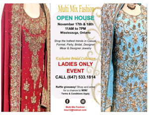 Pakistani Bridal,Wedding Party collection(Open House )