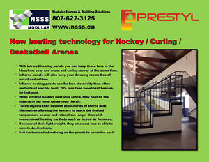 New heating technology for Hockey / Curling / Basketball Arenas