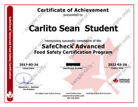 Get Your Food Handler Certificate Today - $48