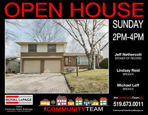 OPEN HOUSE! Sunday 2-4pm
