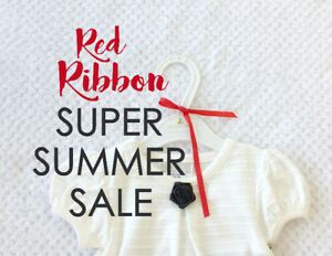 NEW - RED RIBBON Super Summer Sale - Made by Itty Bitty Baby