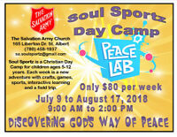 Salvation Army Soul Sportz Summer Day Camp! Ages 5-12