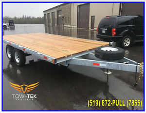 "8'6"" x 16' (102"") Deck over Galvanized trailer,3 Year Warranty!"