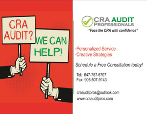 Are you being audited by CRA?  We can Help!