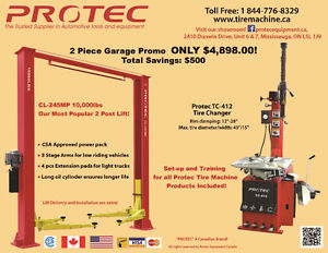 Car lift and Tire Machine/Tire changer 2 Piece Promo $4898