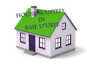 House in Baie D'Urfe wanted please
