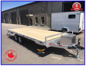 Aluminum 20' trailer , flat deck , deck over , 5 year warranty!