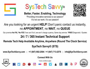 24 / 7 / 365 Instant Technical Support