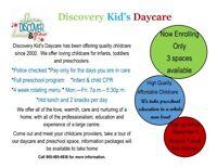 Brampton Home Daycare Discovery Kid's Daycare