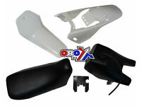 New YAMAHA PW 80 Plastics Plastic Kit Tank Seat Front & Rear Fender White
