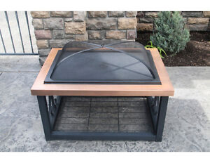 Outdoor Wood Burning Coffee Table Fire Pit