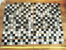 Mini Mosaic Tiles - black, white and grey