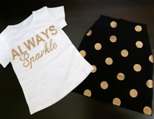 """Always Sparkle"" Outfit (Size 1-2T); Brand New"