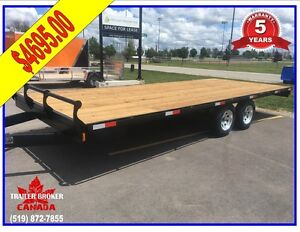 "20' x 102"" Wide Deck over flat bed, flat deck, 5 Year Warranty!"