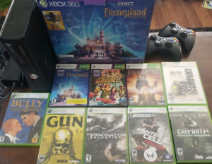 Xbox 360 + 2 controllers + kinect + 33 games