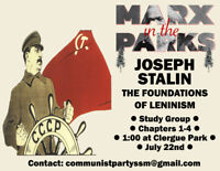 Marx in the Parks: The Foundations of Leninism