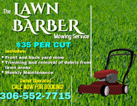 The LAWN BARBER (Mowing Services)