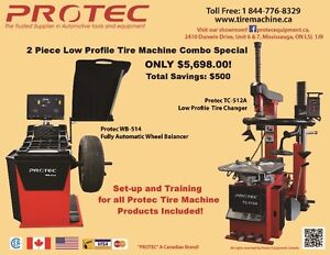 Low Profile Tire changer & Fully Automatic Tire balancer Combo
