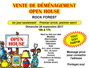 VENTE DE DÉMÉNAGEMENT - OPEN HOUSE