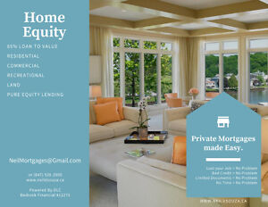 85% Private 2nd & 3rd Mortgages in Kenora and surrounding