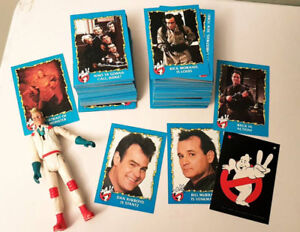 Ghostbusters 2 cards and Egon action figure 1989