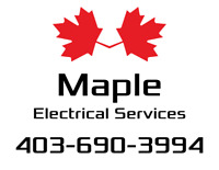 Master Electrician, Insured, Licensed, WCB, Accept Credit Cards