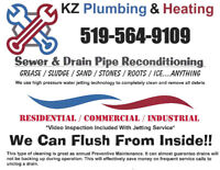 Plumbing Service / Sewer and Drain Cleaning – Water Jetting
