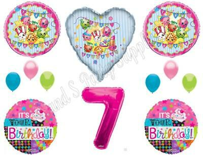 XL SHOPKINS 7th Happy Birthday Party Balloons Decoration Cupcake Seventh Cookie Happy Birthday Cookies