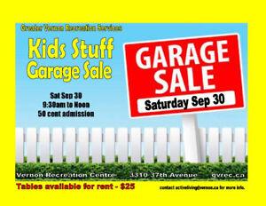 Greater Vernon Recreation Kids Stuff Garage Sale