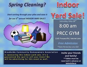 Indoor Yard Sale - Prospect Road Community Centre